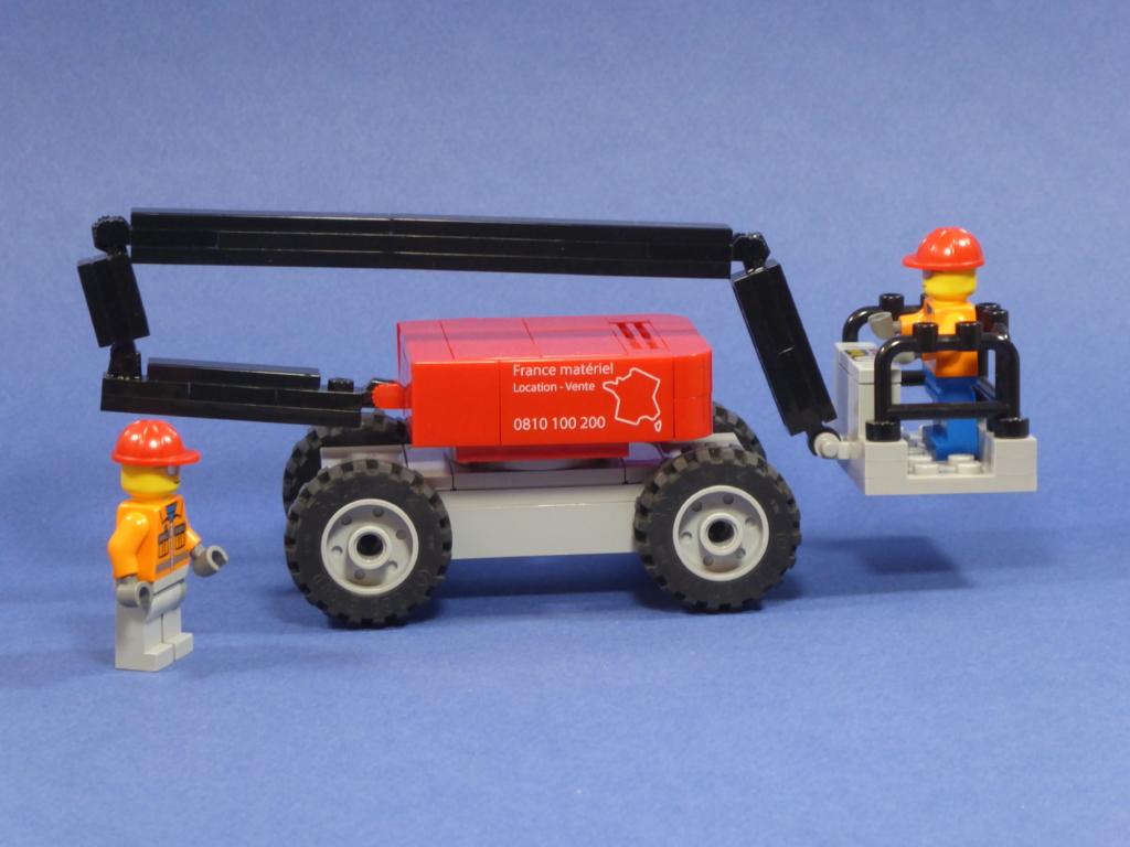 Arbeitsbühne auf Lego® steinen