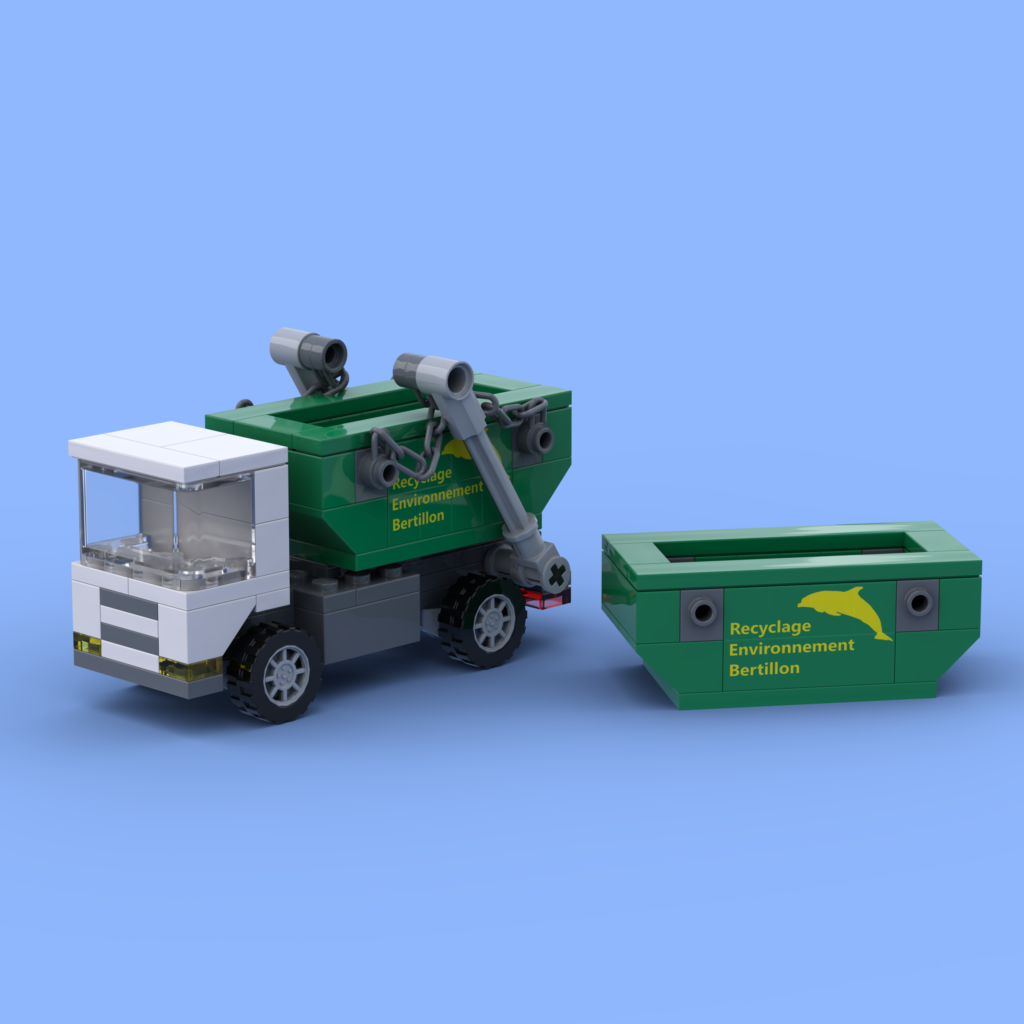 The skip loader truck Lego