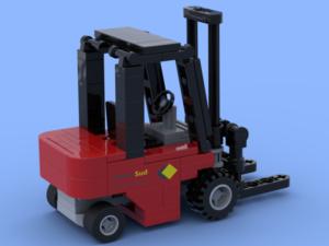 Le chariot élévateur réalisé en briques Lego®