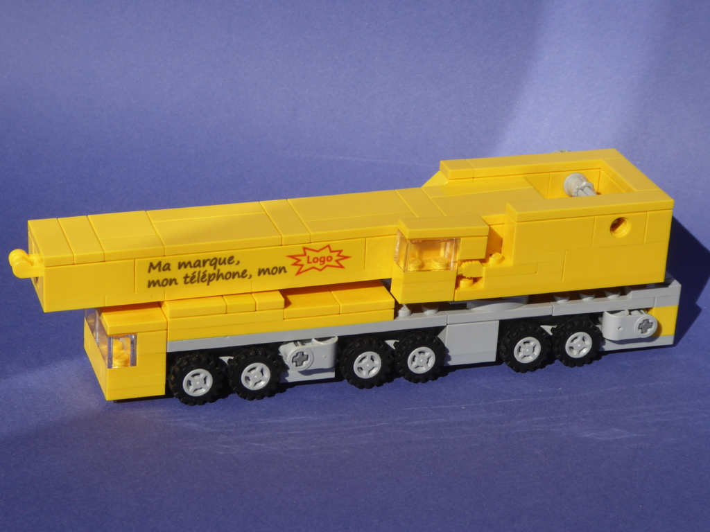 The crane truck in Lego® bricks