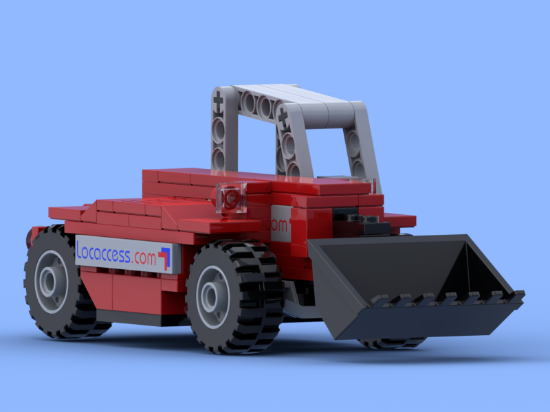 Telescopic handler made of Lego® bricks