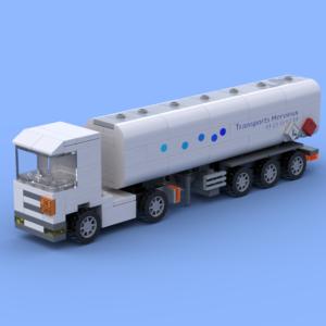 Le camion semi-remorque citerne réalisé en briques Lego®