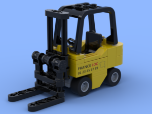 The small fork lift truck made of Lego® bricks