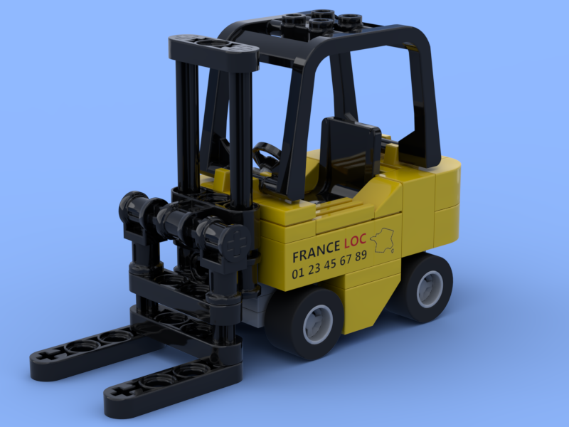 The small forklift truck in Lego bricks