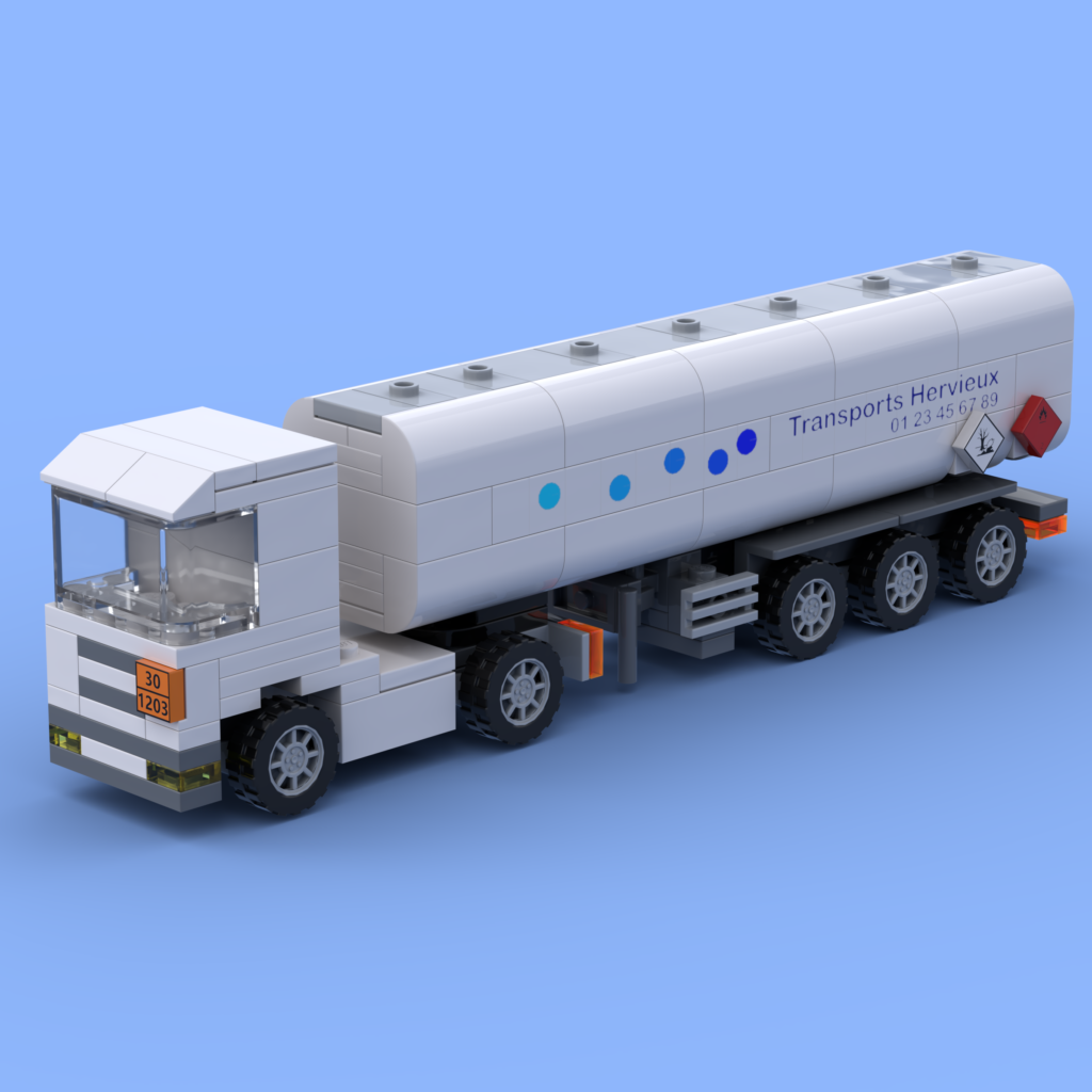 The tank semi trailer in Lego bricks