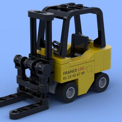 Le petit chariot élévateur réalisé en briques Lego®