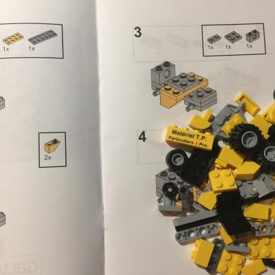 Notice de construction et briques Lego®