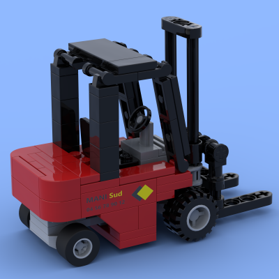 The fork lift truck made of Lego® bricks